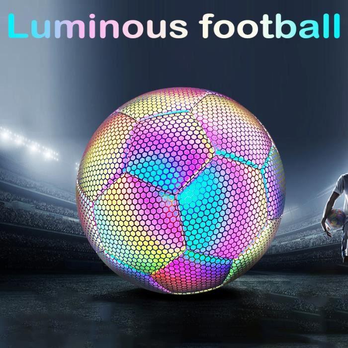 Ballon de football lumineux de taille 5, ballon de football en PU réfléchissant, pour la compétition d'entraînement