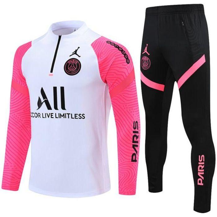 Maillot Foot NIKE PSG x Jordan 2021 2022 Survêtements Foot Homme Enfants Nouveau - Blanc