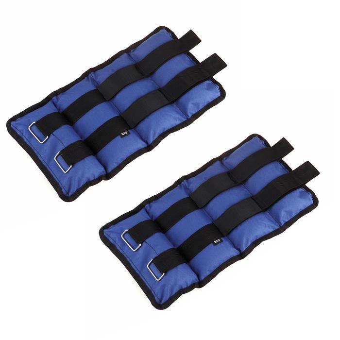 6Kg (2pcs*3kg) Poids Bracelets lestés pour cheville Sangles de Cheville Réglable Fit Sangle de Poignet Cheville Pour Entraînement