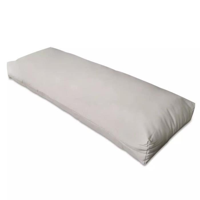 Economique Haute qualité Coussin rembourré de dossier Blanc sable 120 x 40 x 10 cm