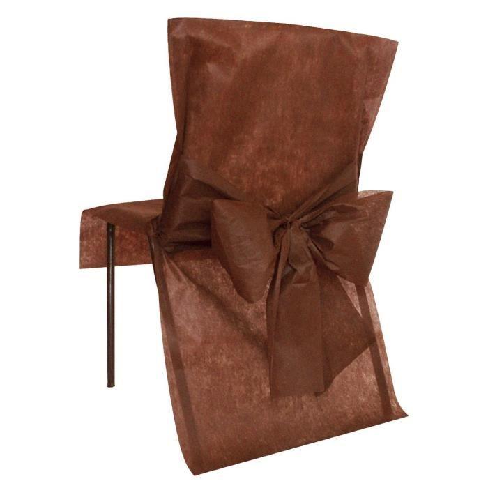 SANTEX Housse de Chaise avec Noeud Chocolat
