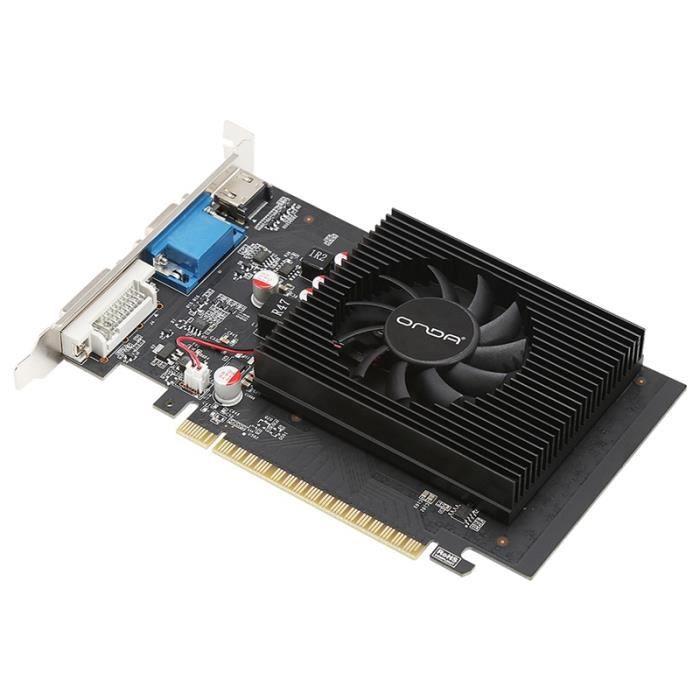 Onda GT730K-2GD3 GPU 2 Go GDDR3 64Bit PC Cartes Graphiques pour PC de Bureau Cartes Graphiques PCI Express 2.0 une Image DiscrèTe -