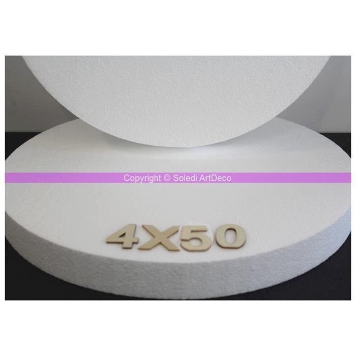 Disque épaisseur 4 cm, diamètre 50 cm, polystyrène pro haute densité, 28 kg/ m3