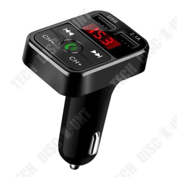 TD® Transmetteur FM Bluetooth pour voiture Adaptateur radio sans fil Chargeur USB Lecteur MP3 Multifonctionnel / USB: 5 V / 2.1 A
