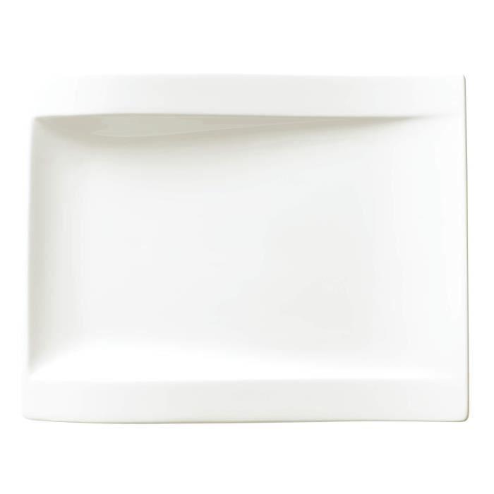 Villeroy & Boch 10-2525-2646 Assiette à Dessert Porcelaine Blanc 31,7 x 23,2 x 7 cm 1 Assiette