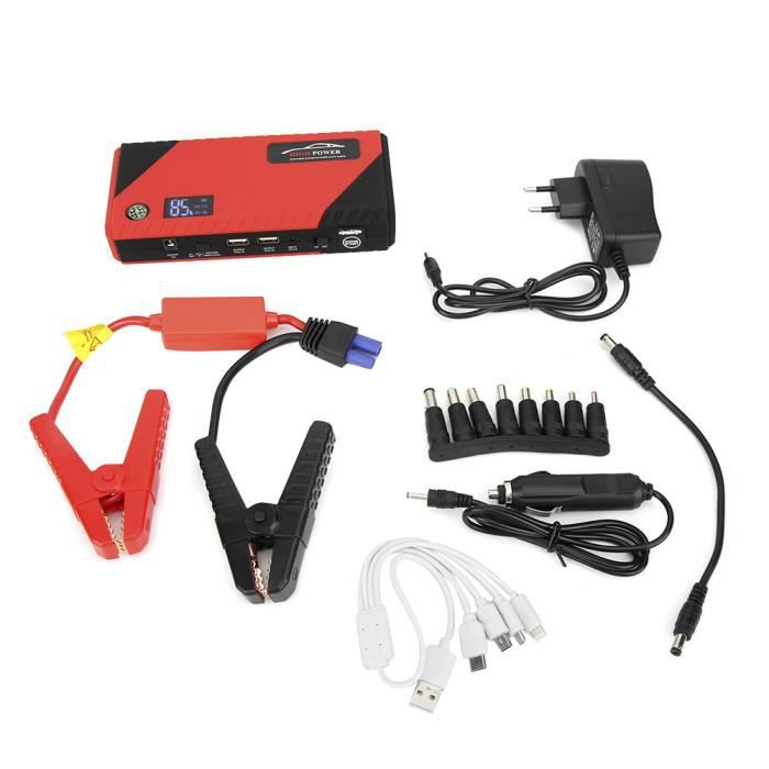 LAG 110V-240V Démarreur de voiture Urgence Chargeur Batterie 12V 20000mAh