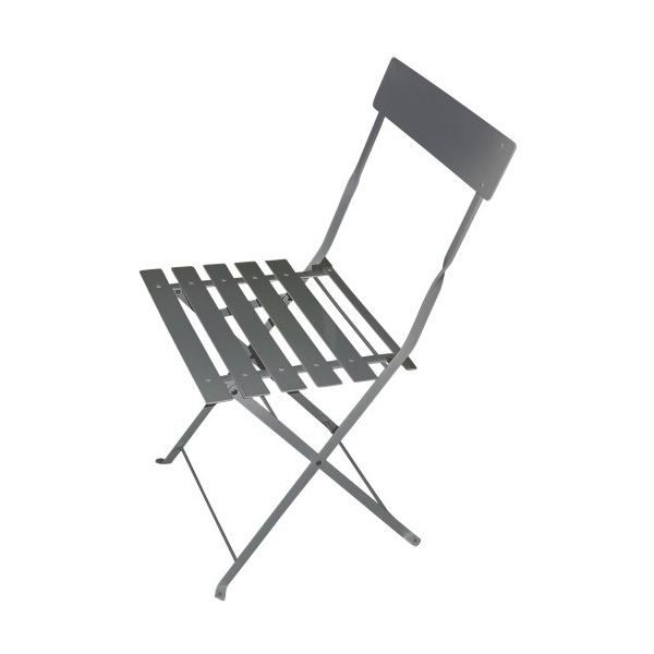 lot de 2 chaises pliantes en metal citadyne grise achat vente chaise fauteuil jardin lot. Black Bedroom Furniture Sets. Home Design Ideas