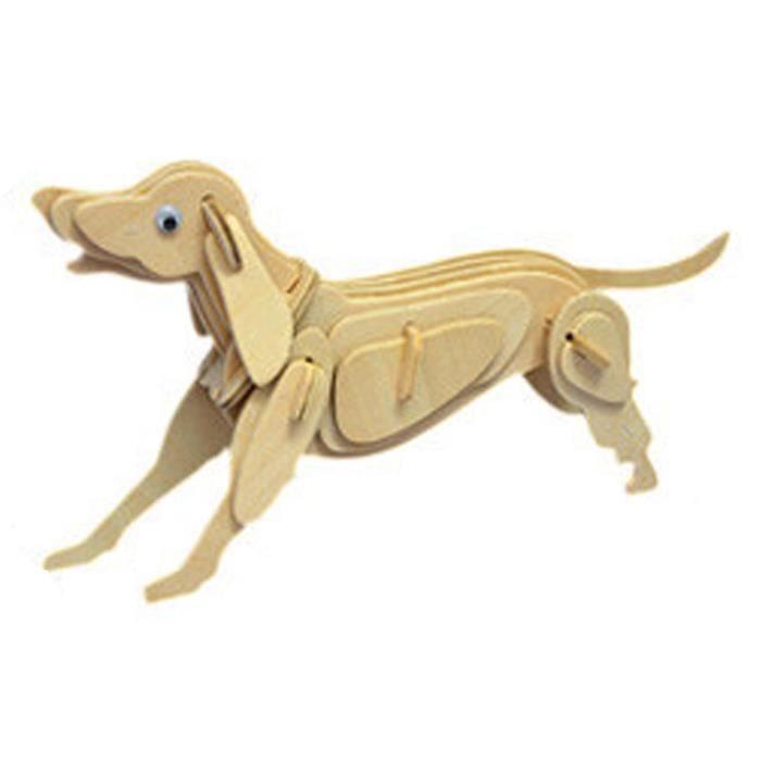 PUZZLE 3D Skeleton Puzzle en bois animal zodiaque chinois