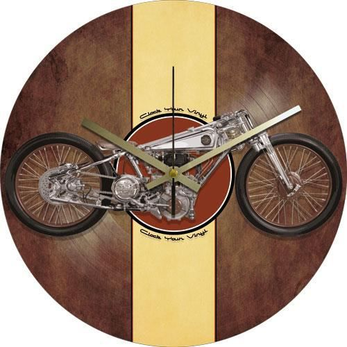 horloge design vinyle motor bike vintage achat vente horloge cdiscount. Black Bedroom Furniture Sets. Home Design Ideas
