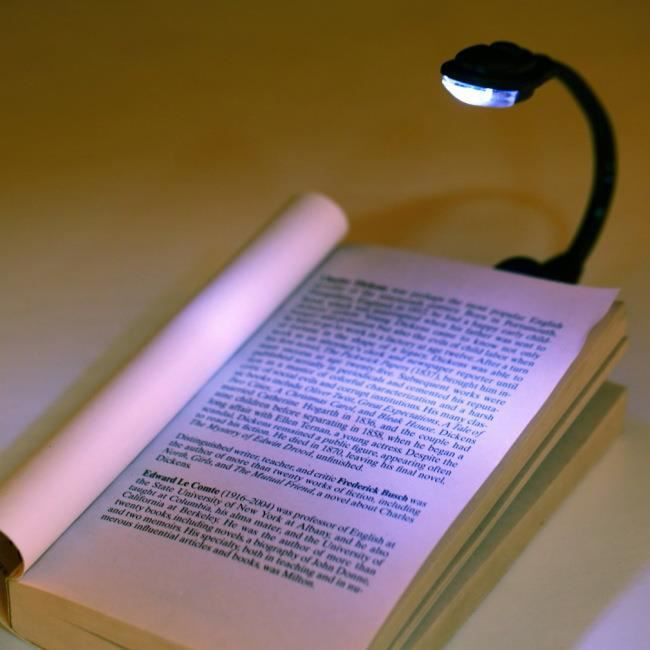 mini lampe lecture liseuse livre led avec batterie achat. Black Bedroom Furniture Sets. Home Design Ideas