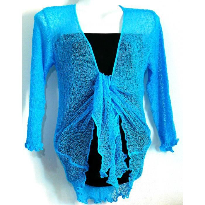 bolero bleu turquoise gilet cache coeur cardigan bleu. Black Bedroom Furniture Sets. Home Design Ideas