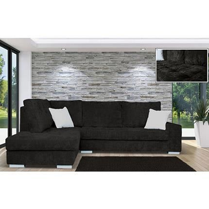 canap d 39 angle fixe gauche en velours color achat vente canap sofa divan velours. Black Bedroom Furniture Sets. Home Design Ideas