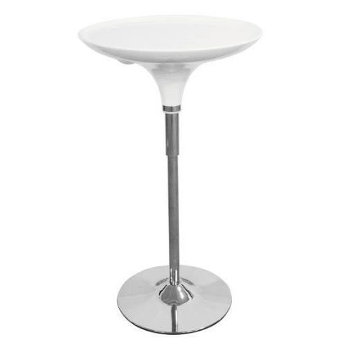 Premier housewares table de bar r glable table en abs pied for Pied table bar reglable