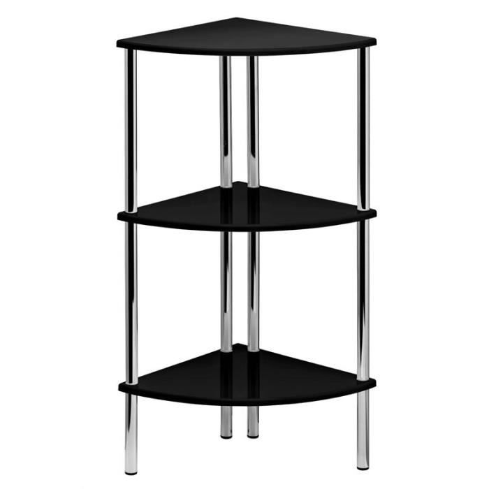 3 niveau noir haute brillance suspension unit stockage tag res d 39 angle salon achat vente. Black Bedroom Furniture Sets. Home Design Ideas
