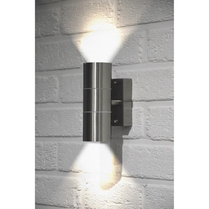 DEL 6 W Up /& Down Lampe murale Luminaire extérieur Lampe Intérieur Façade Murale éclairage