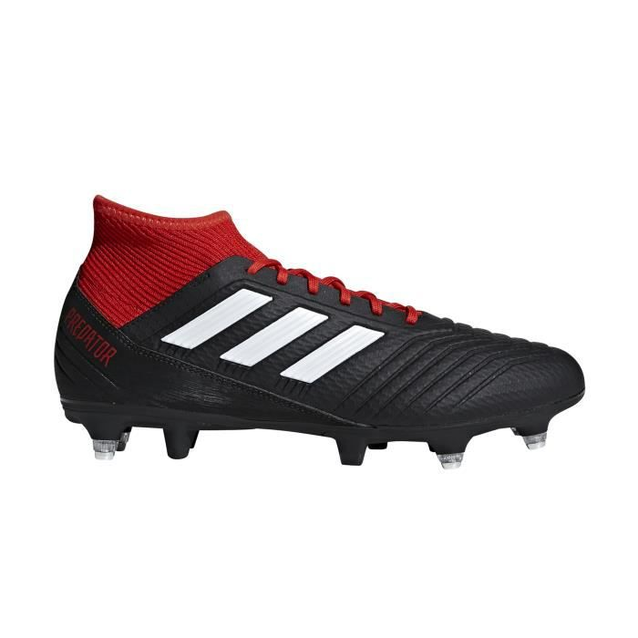 save off d72f4 5ad82 Chaussures football adidas Predator 18.3 SG Noir-Rouge