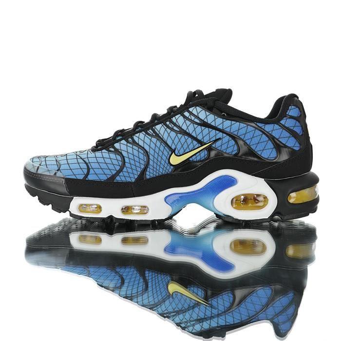 Baskets Nike Air Max TN Plus TXT Tuned 1 Homme Bleu Bleu ...