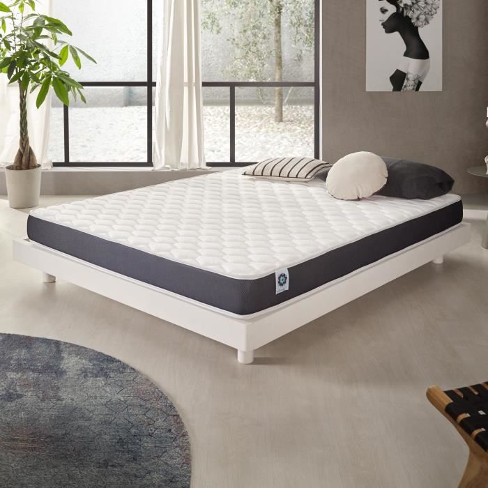 matelas ergolatex 140x200 cm blue latex 7 zones de confort 3701129936382 achat vente matelas. Black Bedroom Furniture Sets. Home Design Ideas