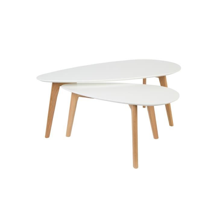 tables basses scandinave drop set de 2 achat vente