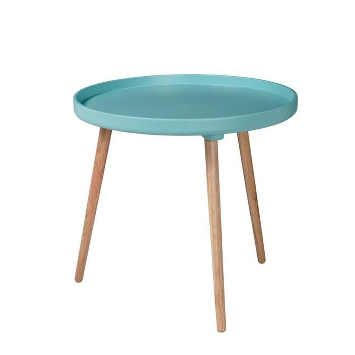Table basse ronde 55 x h55cm kompass couleur turquoise for 2 table basse ronde