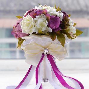FLEUR ARTIFICIELLE LILAS VIOLET 24cm bouquet de fleur boule de rose a