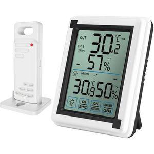 STATION MÉTÉO Thermomètre et hygromètre d'intérieur extérieur, M