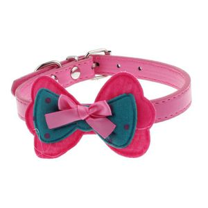 COLLIER COLLIER Nouveau Double bowknot réglable Pet Collie