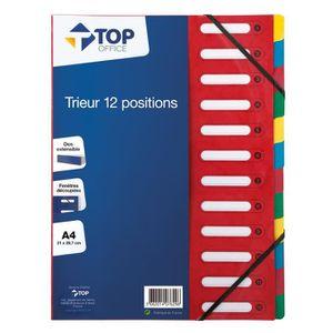 TRIEUR - PARAPHEUR Trieur carton A4 - TOP OFFICE - 12 compartiments -