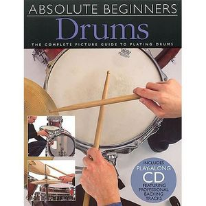 PARTITION Absolute Beginners Drums, Recueil + CD pour Batter