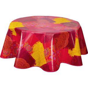 NAPPE DE TABLE Nappe en toile cirée ronde design Bouti - Diam. 15