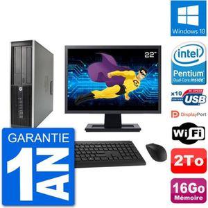 ORDI BUREAU RECONDITIONNÉ PC HP Compaq 6200 Pro SFF Ecran 22