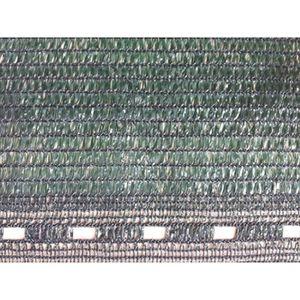 CLÔTURE - GRILLAGE Filet Brise-Vue PEHD Vert foncé 2m x 10m