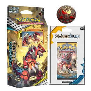 CARTE A COLLECTIONNER SOLEIL ET LUNE Deck Pokemon Groudon SL12 Eclipse C
