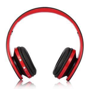 CASQUE - ÉCOUTEURS Micro casque de Bluetooth stéréo sans fil pliable