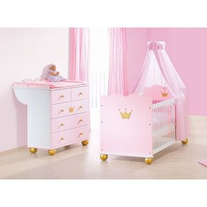 chambre bebe princesse achat vente chambre bebe princesse pas cher cdiscount. Black Bedroom Furniture Sets. Home Design Ideas