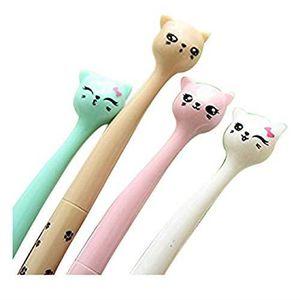 MARQUEUR Stylo en forme de chat Crayons Gel Stylos Billes à