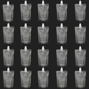 FLASQUE 20pcs Flask Flasque Flacon Poche & Cap Liquide sac