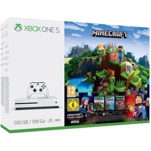 CONSOLE XBOX ONE Xbox One S 500 Go Minecraft + 3M Live