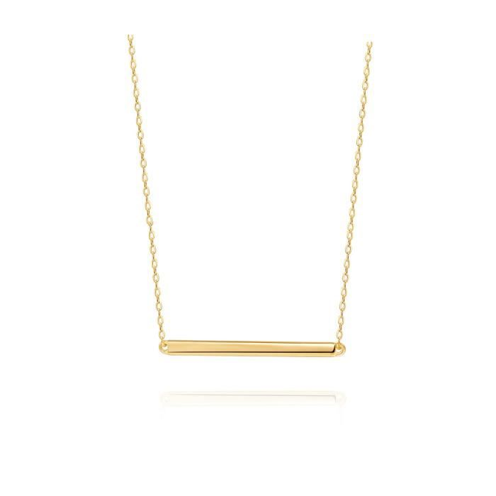 Pendentif Vendu Seul UWVNQ Women's Bar Necklace Sterling Silver Minimalism Line Necklace Horizontal Bar Necklace