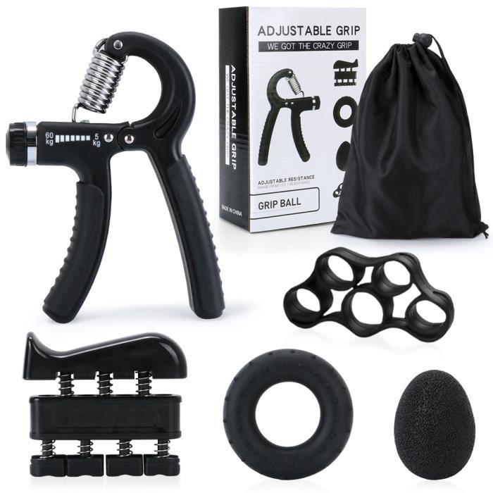 Kit D'entraînement pour Renforcement des Poignées et des Avant-Bras-5 PCS Musculation de Main pour Rééducation Sport Homme Femme