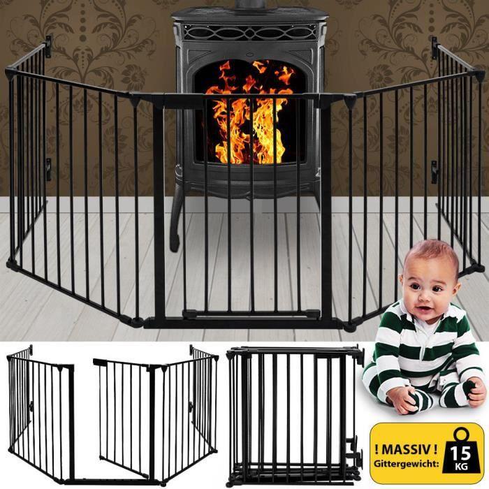 {Pour Enfants / Bébés} Barrière de Sécurité Ajustable pour Cheminée Escaliers et Parc