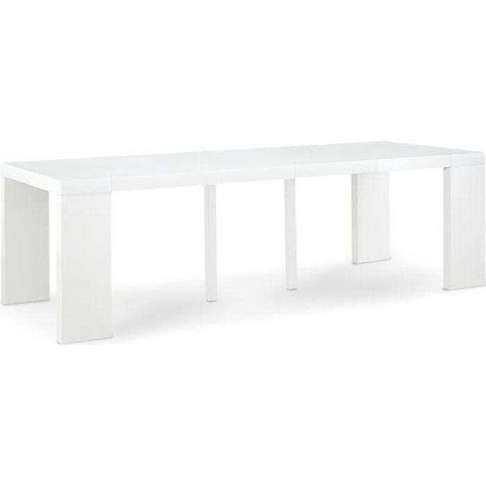 Table Console Oxalys XL Blanc Laquée