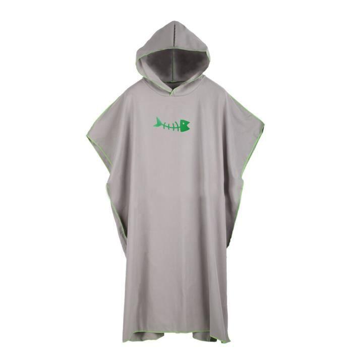 Crème solaire vacances Robe combinaison changeante surf Poncho Robe douce avec capuche cadeau adultes - Modèle: grey - TEYYMJA03957