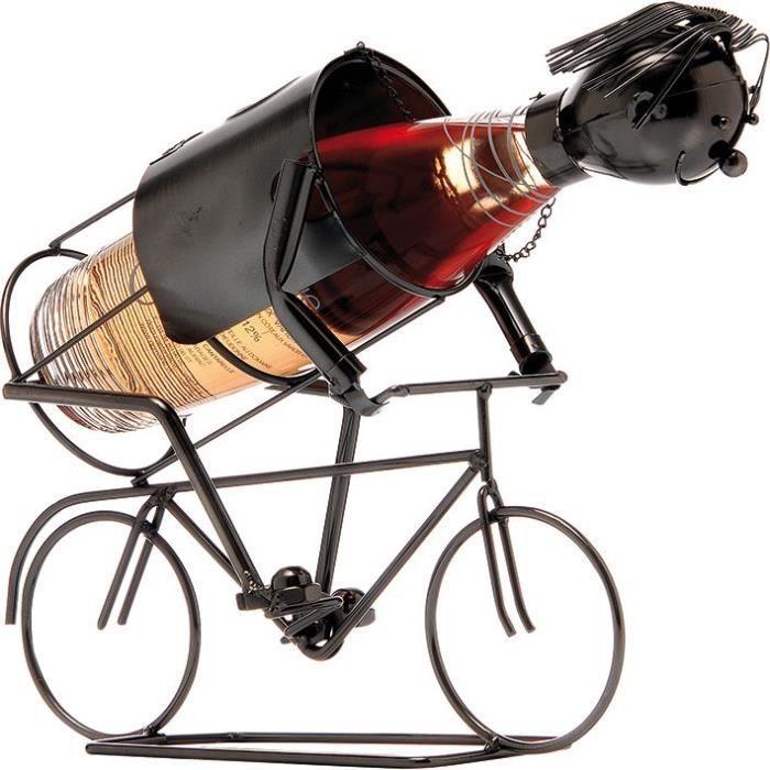 Porte-bouteille Cycliste - métal