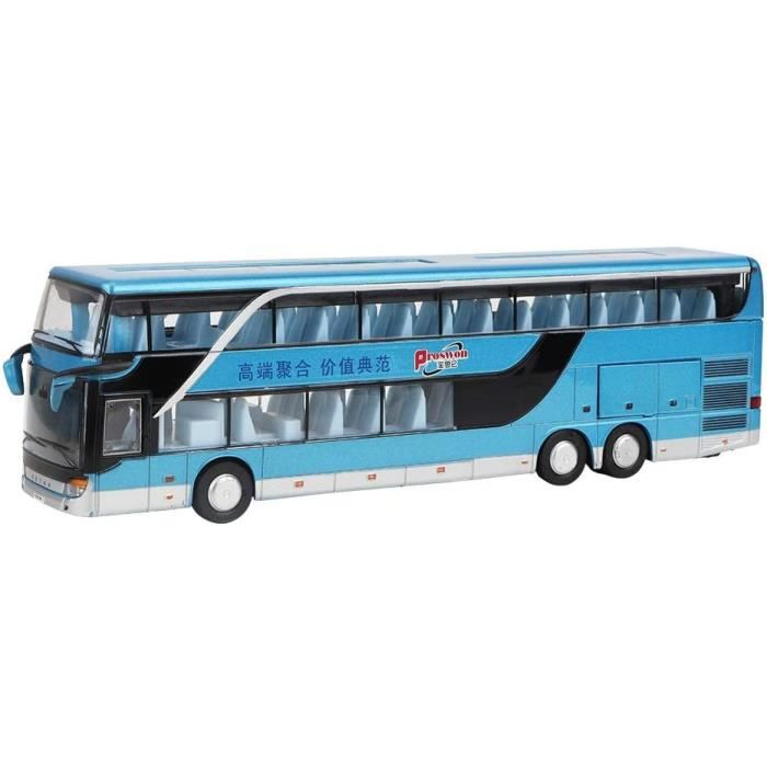 VEHICULE MINIATURE ASSEMBLE ENGIN TERRESTRE MINIATURE ASSEMBLE Alliage Double-decker Bus Mod&egravele Jouet, &Eacutelectriqu337