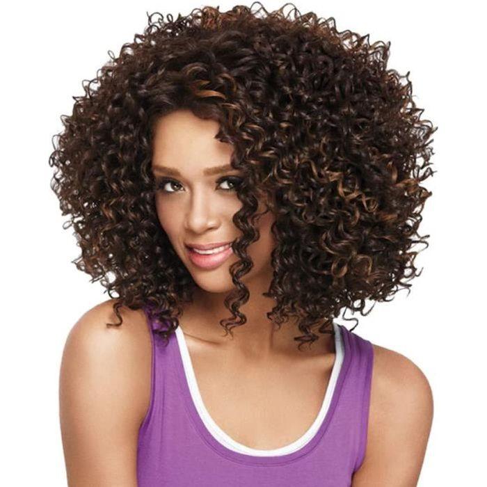PERRUQUE Perruque Femme Naturelle Breacutesilien Courte Lace Frontal LINSINCH Rose Net Full Curly Wig Mix Couleurs Bob Vague Noi810