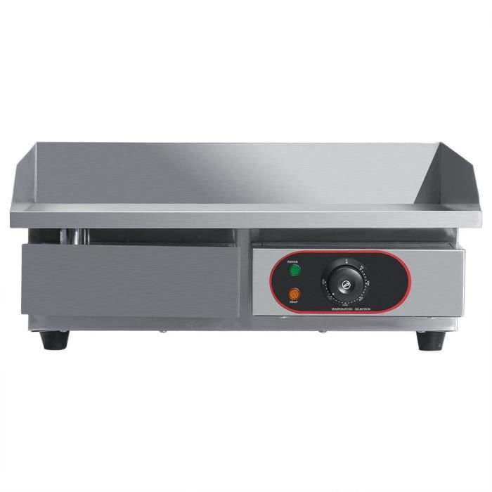 YUY HX-818 Barbecue Électrique en Acier Inoxydable Plancha 3000W (Prise Non inclus)