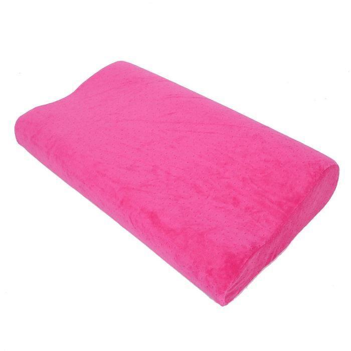 HURRISE oreiller à rebond lent Oreiller de sommeil pour soins de la colonne cervicale Oreiller en mousse à mémoire de forme à