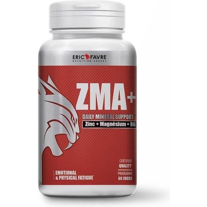 ZMA+ Zinc, Magnésium et Vitamine B6 - Soutien le métabolisme energétique et la synthèse protéique - Laboratoire Français Eric Favre