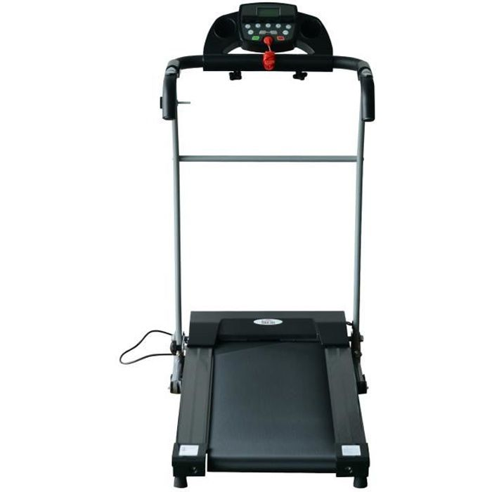 Tapis roulant électrique de course pliant 440 W 1-10 Km/H écran LCD multifonctions support iPad acier noir argent
